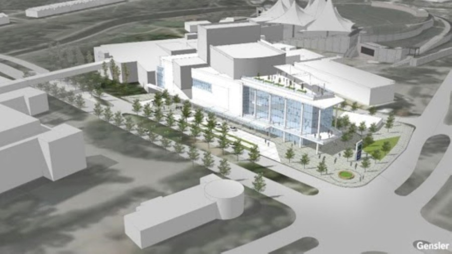 The Woodlands Township has been exploring the creation of a performing arts center near The Cynthia Woods Mitchell Pavilion. (Rendering courtesy The Woodlands Township)