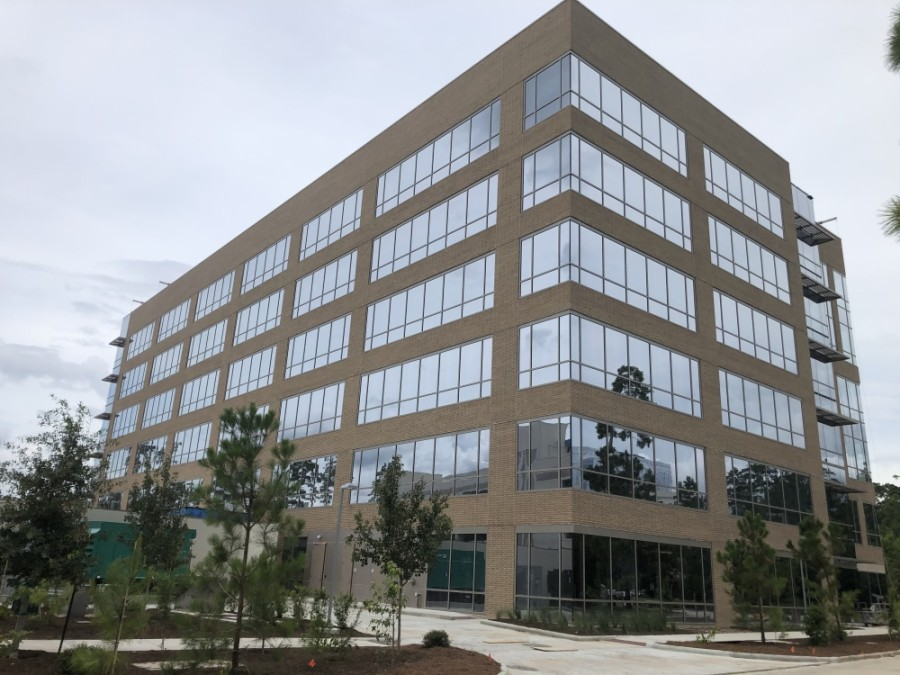 A six-story office building has been under development at Technology Forest and Lakeside boulevards. (Andrew Christman/Community Impact Newspaper)