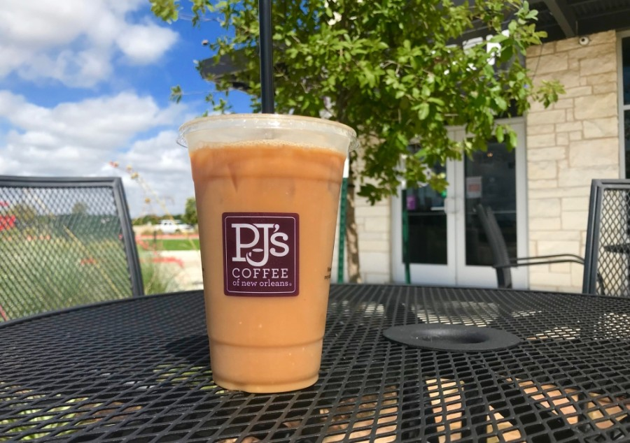 PJ's Coffee of New Orleans is now serving up coffee beverages, sandwiches and pastries in Round Rock. (Kelsey Thompson/Community Impact Newspaper)