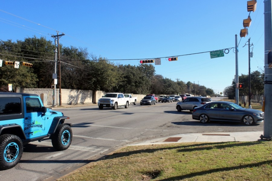 The city of Austin will soon begin construction on about $8 million in improvements on Anderson Mill Road in Northwest Austin. (Amy Denney/Community Impact Newspaper)