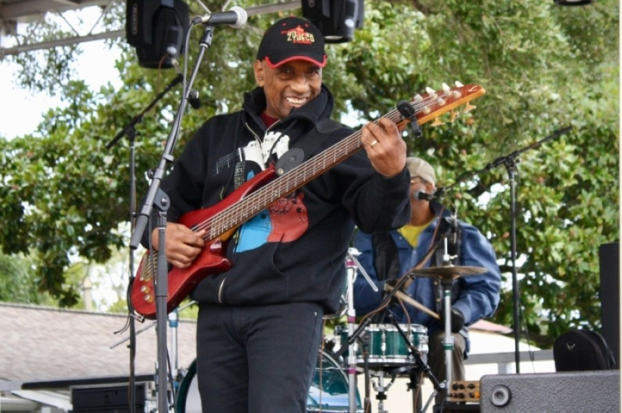 A zydeco musician performs at the 2019 Katy Rice Festival. At the 2020 festival, music will be livestreamed for viewers. (Jen Para/Community Impact Newspaper)