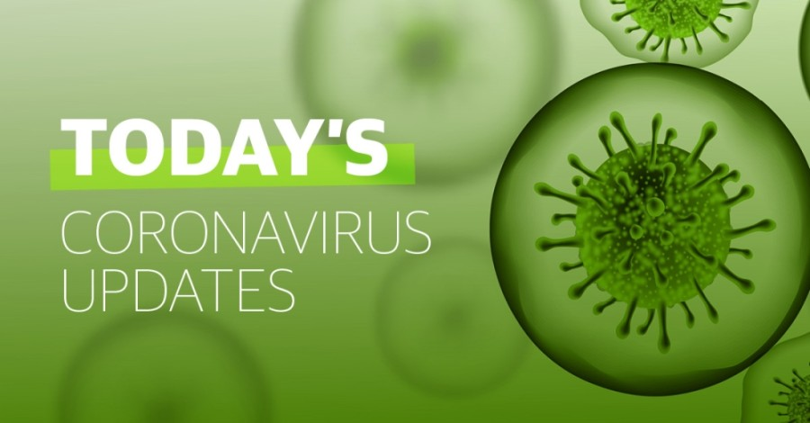 A green virus graphic representation