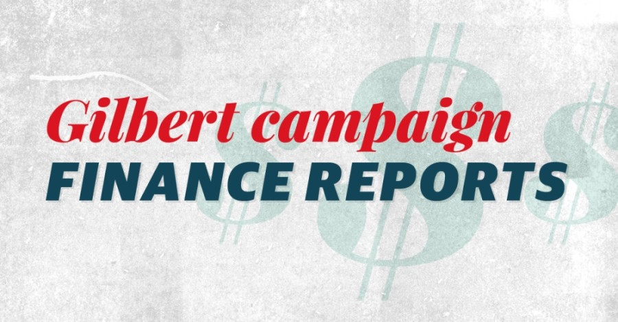Gilbert campaign finance reports
