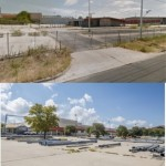 The existing lot housed an empty Home Depot and a Chrysler dealership for years. (Courtesy Council Member Greg Casar's Office)