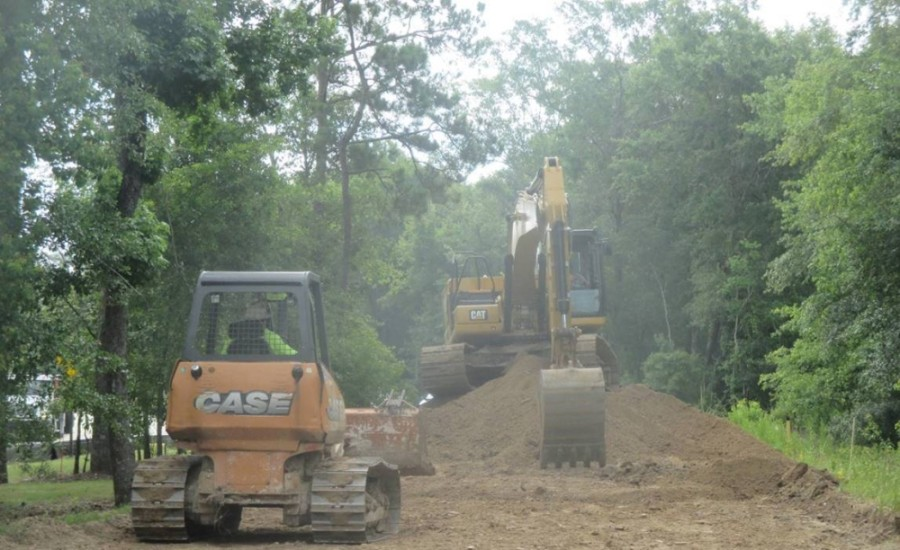 Construction on the Madera Run Parkway expansion began in late May. (Courtesy Harris County Precinct 2)