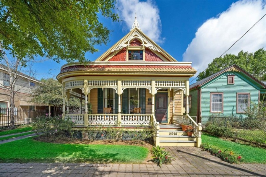 2214 Kane St., Houston: Originally built in 1883, this is among the oldest homes in Houston, according to HAR, and is a protected historic landmark. The home features a wraparound front porch, a stained glass door and a completely updated interior, including a restored original staircase. 4 bed, 2.5 bath / 2,247 sq. ft. Sold for $717,001-$827,000 on July 16. (Courtesy Houston Association of Realtors)