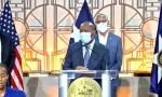 Houston mayor sylvester Turner speaks at press conference july 30