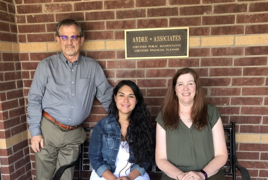 From left: Keith Andre, Rachel Lopez and Melissa Simmons help lead Andre   Associates in McKinney. (Courtesy Andre   Associates)