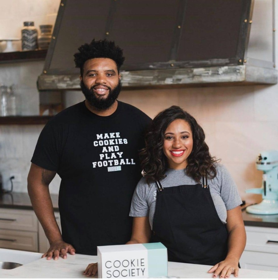 Jeff and Marissa Allen are co-owners of Cookie Society in Frisco. (Courtesy Cookie Society)