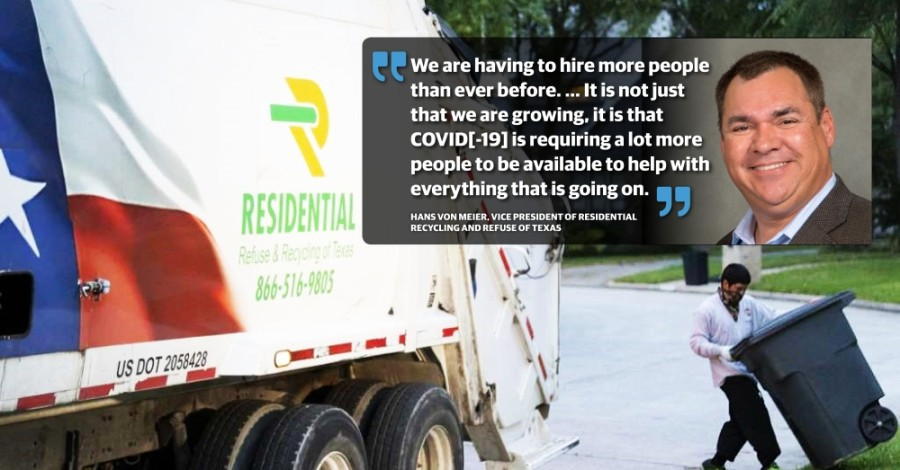 The Magnolia-based company started in 2006 as a recycling company and later added trash collection. (Courtesy Residential Recycling & Refuse of Texas)