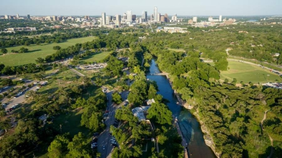 Officially closed since the July 4 weekend, Austin's Barton Creek and Bull Creek greenbelts will reopen Aug. 8. (Courtesy Brent Hall/AccentAp.com)