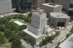 Houston City Hall aerial view