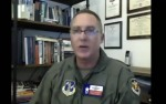 Matthew Barker commands the 147th Wing of the Texas Air National Guard  at Ellington Joint Field Reserve Base. (Screenshot of July 30 webinar)
