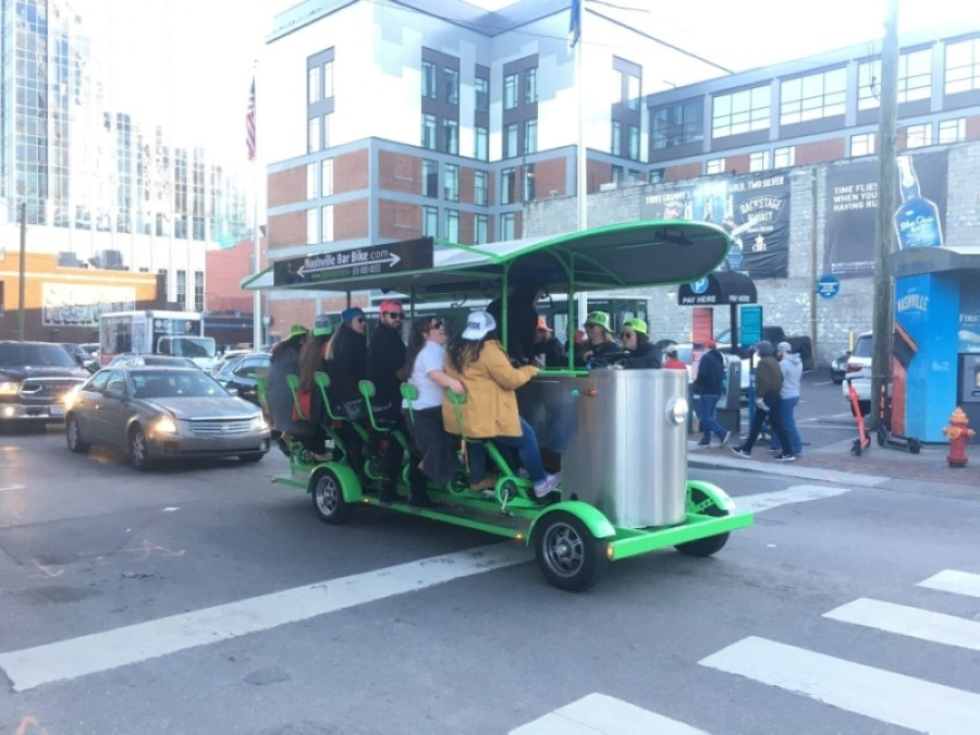 "In addition to bars, pedal taverns and other ""transpotainment"" vehicles regulated by the city must close. (Wendy Sturges/Community Impact Newspaper)"