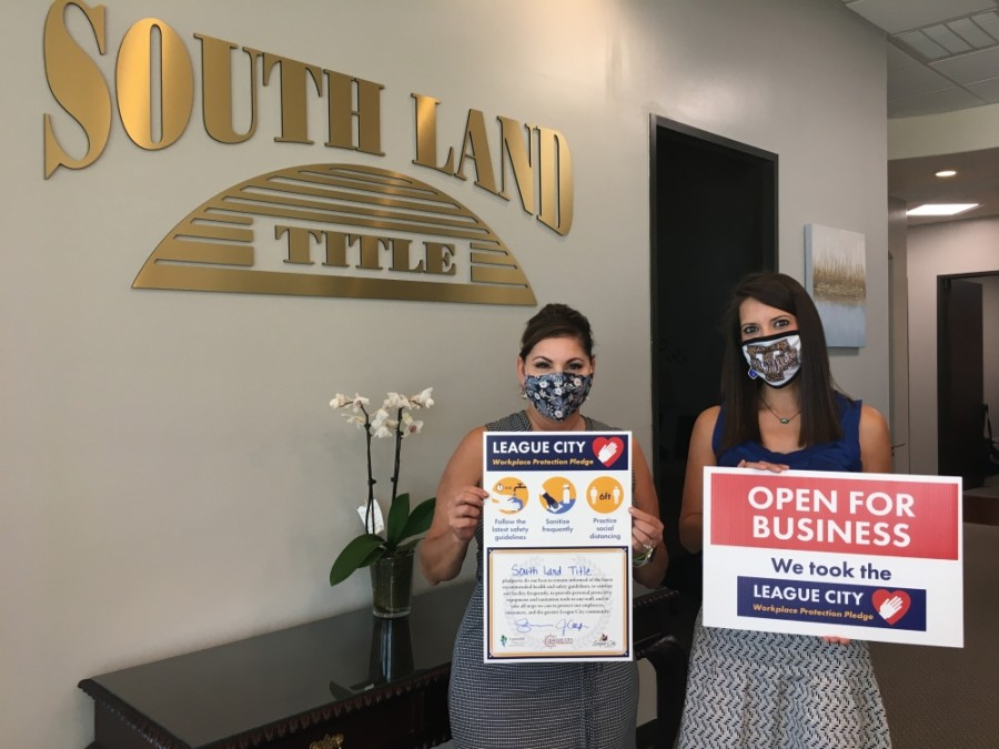 South Land Title is one of dozens of League City businesses that has taken the workplace protection pledge. (Courtesy city of League City)