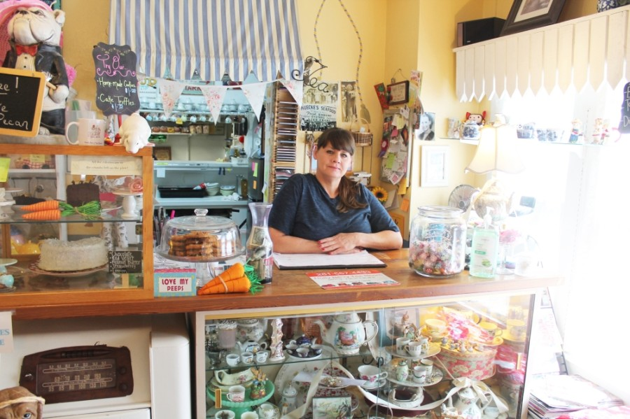 Rhonda Karim said her favorite part of owning Holly Berry Tea Room is the customers. (Jake Magee/Community Impact Newspaper)