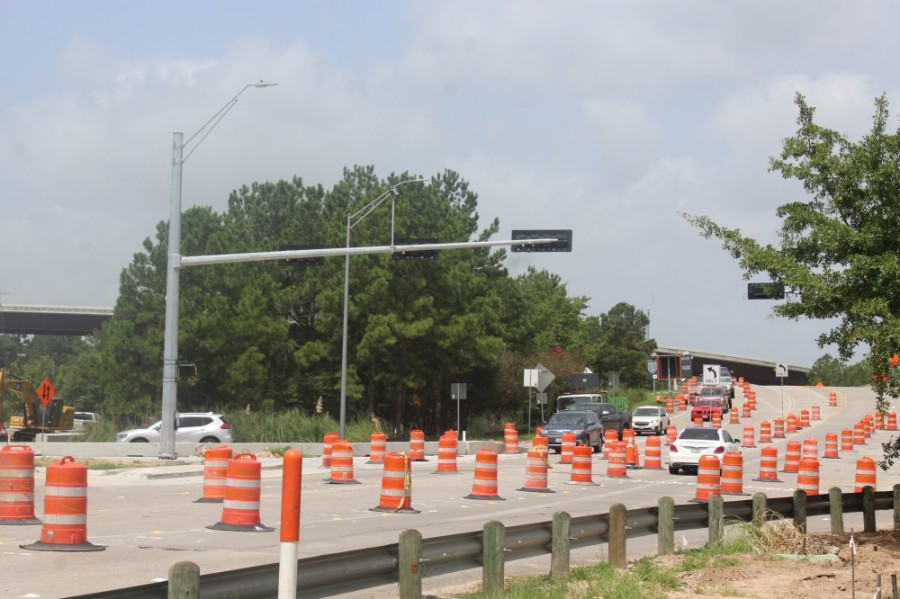 Work on Robinson Road will continue through 2020. (Ben Thompson/Community Impact Newspaper)