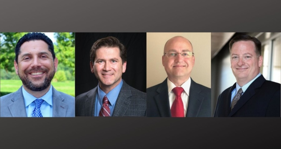 From left: Warren Hutmacher, Wayne Reed, Donald Toms and Brian Bosshardt have been named as finalists for Hutto's next city manager. (Courtesy city of Hutto)