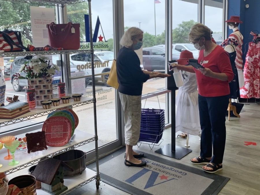 The Thrift Shop is an upscale resale shop run by volunteers and stocked with donations of new and gently used clothing, accessories, jewelry, housewares, furniture and decor. It also provides hand sanitizer for patrons. (Courtesy Assistance League of Georgetown Area)