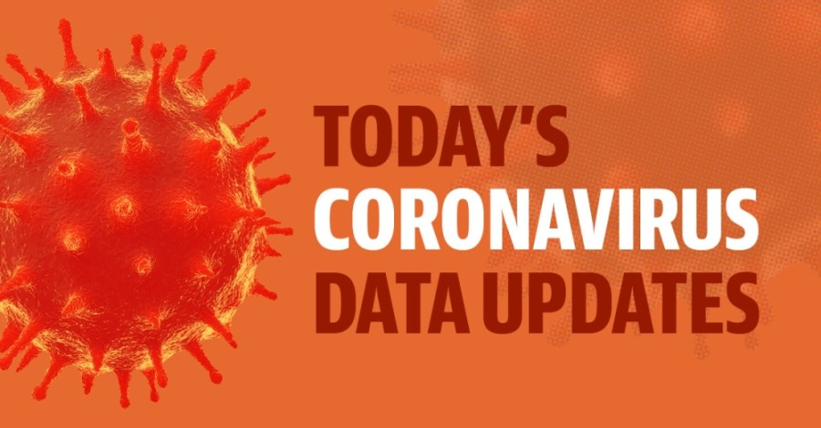 An orange coronavirus graphic