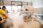 The liquid nitrogen ice cream chain will open on The Woodlands Mall's new courtyard. (Courtesy Creamistry)