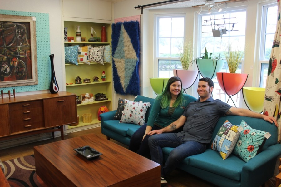 Chelsea Wine and Mike Hooker opened Rave On Vintage in 2013. (Christopher Neely/Community Impact Newspaper)