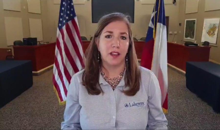 Lakeway Mayor Sandy Cox updated the community through a live Facebook broadcast Aug 7. (Courtesy city of Lakeway)
