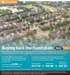 While home buyouts are used to remove homes from areas that are so low in the flood plain, that other flood damage reduction projects are not cost-effective, experts agree they are not a solution to Cypress Creek's chronic flooding. (Graphic by Ronald Winters/Community Impact Newspaper)
