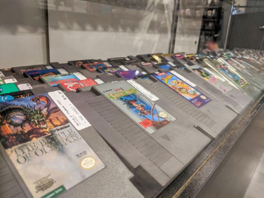 Showcases display rare cartridges. (Warren Brown/Community Impact Newspaper)