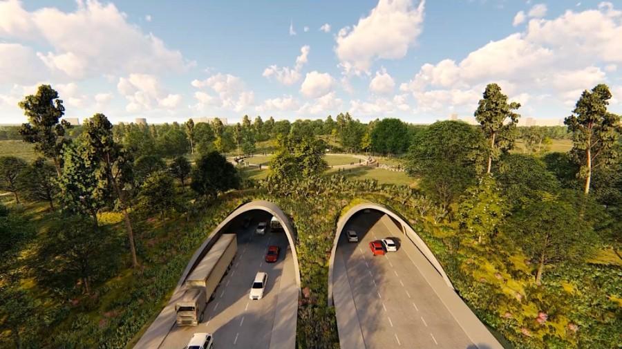 Memorial Park land bridge