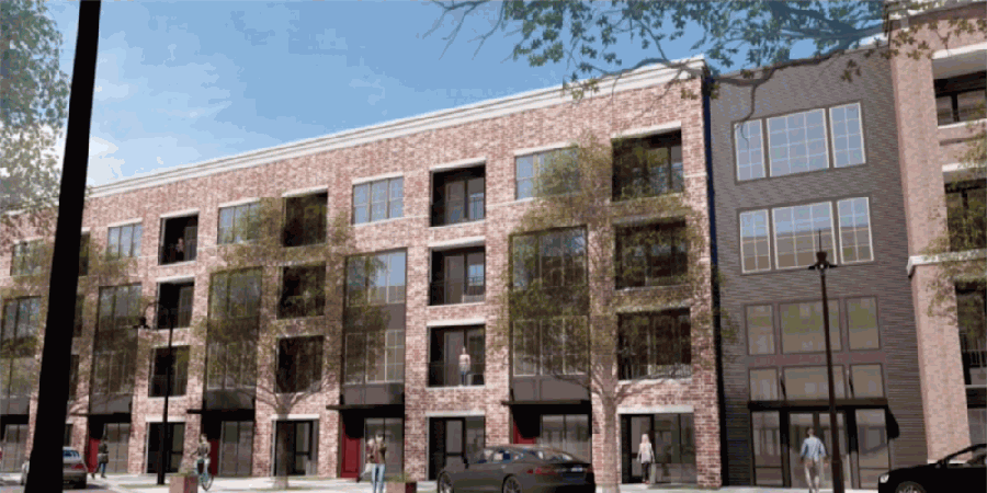 The changes to the plans for Beacon Square were voted down, including nine additional live-work units, which can be used for commercial or residential uses. (Rendering from city of Plano presentation)