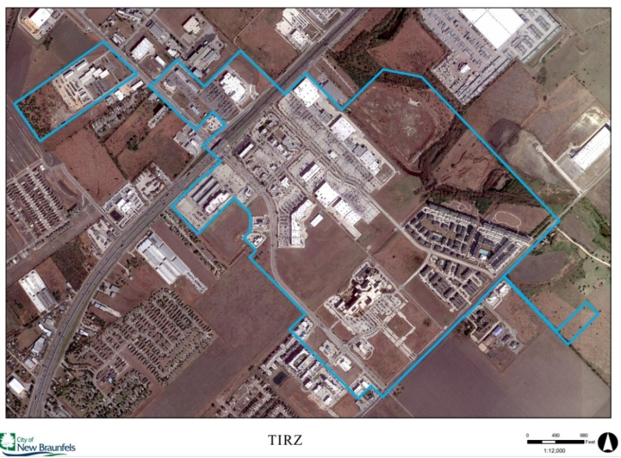 New Braunfels City Council approved a jump in acreage of its Reinvestment Zone Number One during its Aug. 10 meeting. (Screen shot courtesy city of New Braunfels)