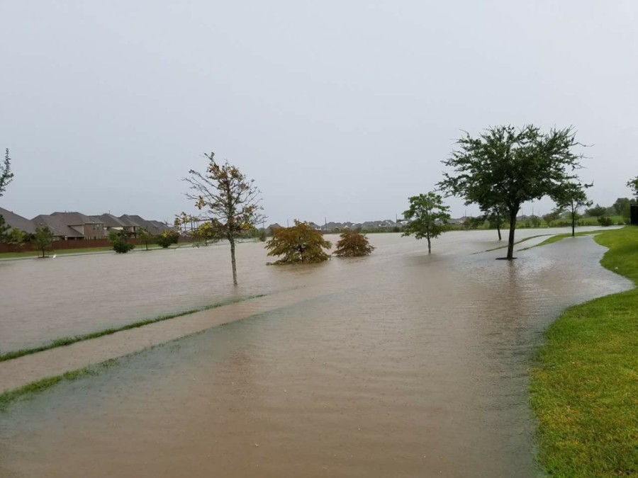 Residents captured photos of flooding in Pearland and Friendswood during Hurricane Harvey. (Courtesy Luki Blair Davis)