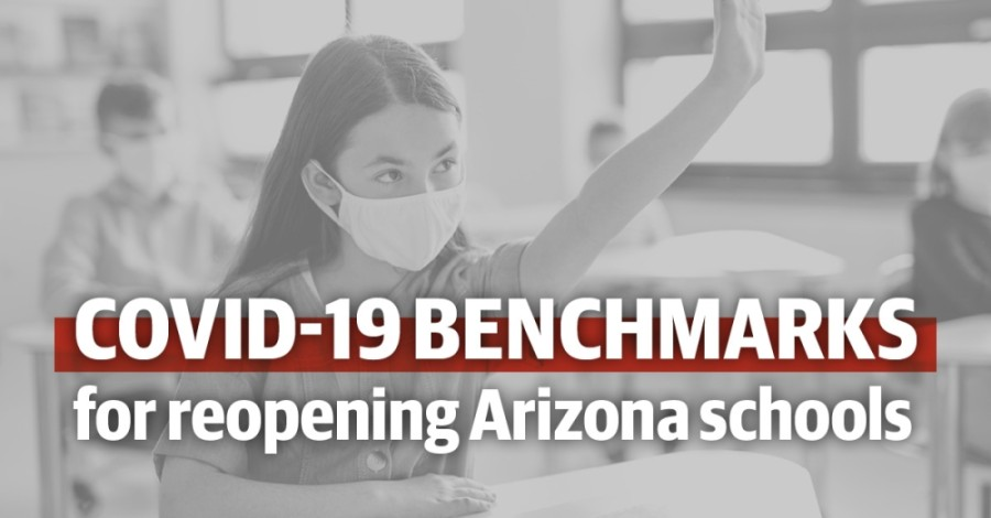 The Arizona Department of Health Services released benchmarks on COVID-19 metrics that local schools can use to judge when to reopen schools either fully in-person or in a hybrid model. (Community Impact staff)