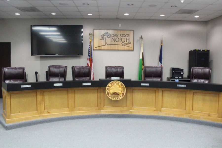 The Oak Ridge North City Council met for regular meeting via videoconference Aug. 10. (Ben Thompson/Community Impact Newspaper)