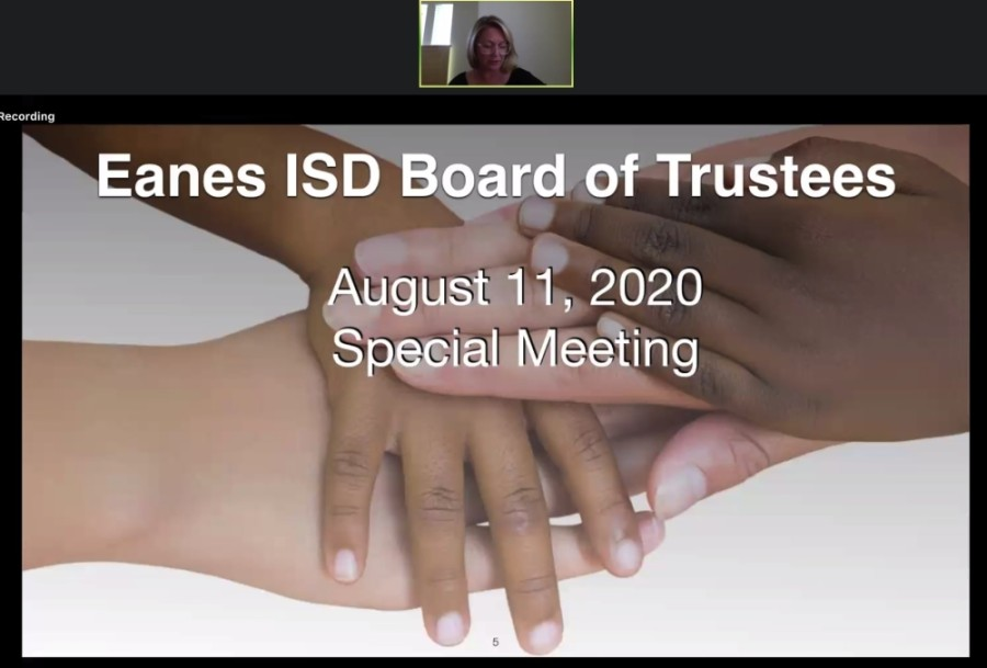 Eanes ISD passed a resolution during an Aug. 11 board meeting regarding the 2020-21 school year. (Courtesy Eanes ISD)