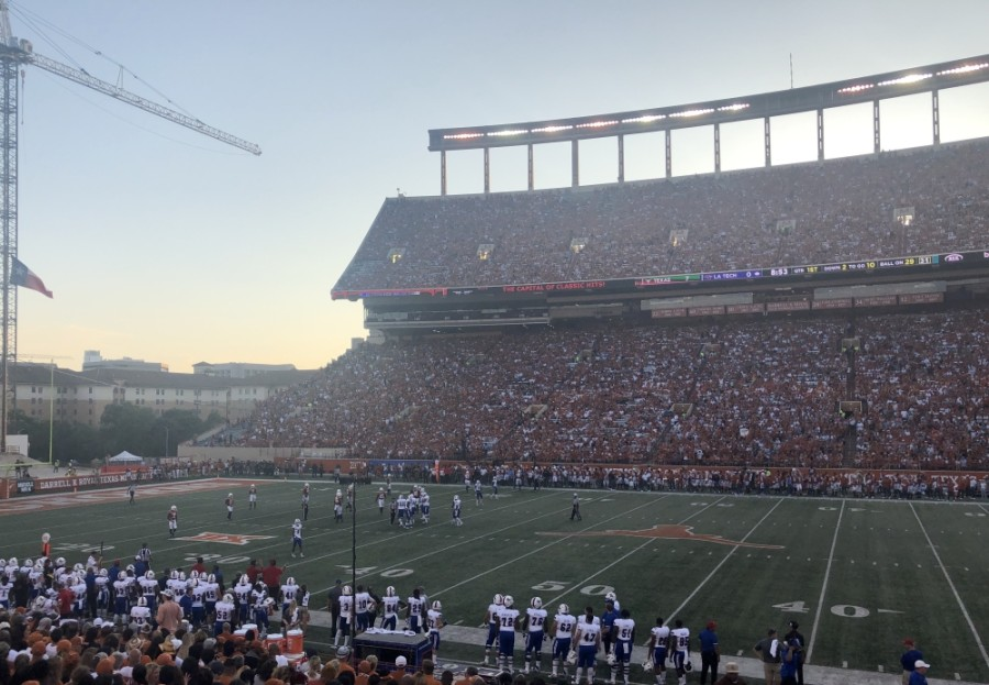 The University of Texas will host football games at Darrell K. Royal Veterans Memorial Stadium this fall after an announcement from the Big 12 Conference on Aug. 12 that the fall sports season will continue. (Jack Flagler/Community Impact Newspaper)
