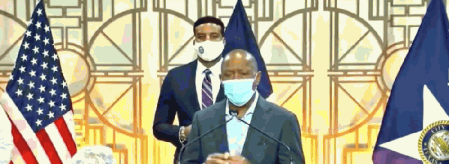 Mayor Sylvester Turner briefed reporters on the city's coronavirus repsonse Aug. 12. (Courtesy HTV)