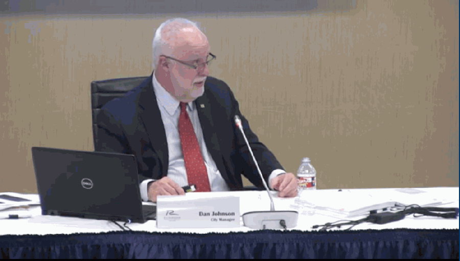 City Manager Dan Johnson briefed City Council on the proposed budget and tax rate at a Aug. 10 meeting. (Courtesy Citizens Information Television)