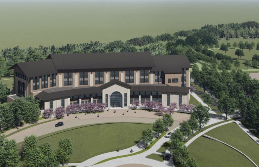 Construction on the first building was approved to proceed at a November meeting. (Rendering courtesy University of North Texas)