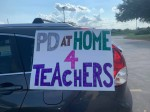 Teachers with Cy-Fair ISD spoke out against in-person professional development days at an Aug. 10 school board meeting. (Courtesy American Federation of Teachers Cy-Fair branch)