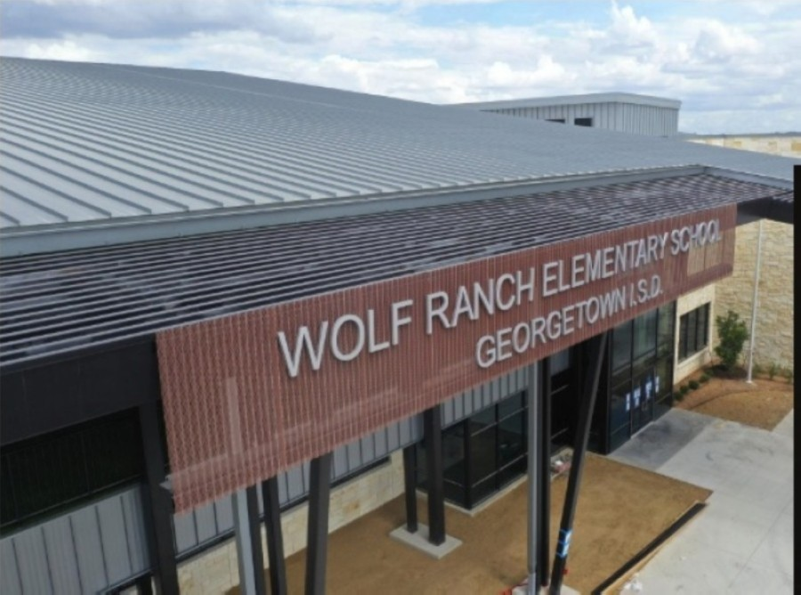 Wolf Ranch Elementary School is located off of D.B. Wood Road south of Hwy. 29. (Screenshot courtesy Georgetown ISD)