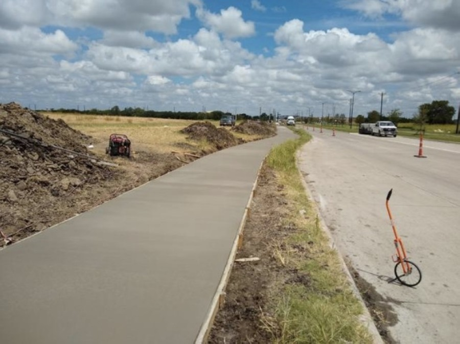 Work on the city's 2020 Sidewalk Improvements Project began this summer. Improvements range from pedestrian ramp work to 8-foot-wide hike and bike trails at various locations throughout the city, including west of Coit Road at Collinsbrook Drive. (Courtesy city of Frisco)