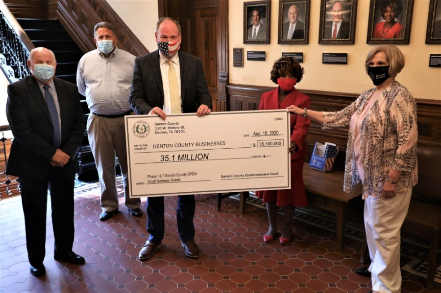 The county awarded more than $35 million in grants to small businesses through the federal stimulus program. (Courtesy Denton County)