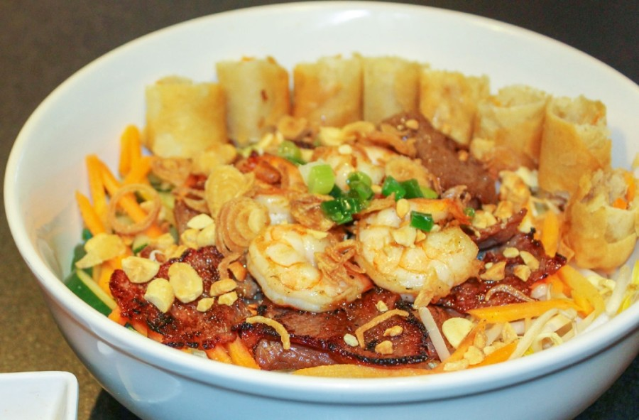 Fu Manchung serves a variety of Asian-inspired dishes, blending Vietnamese, Thai, Chinese and American cuisines. (Adriana Rezal/Community Impact Newspaper)