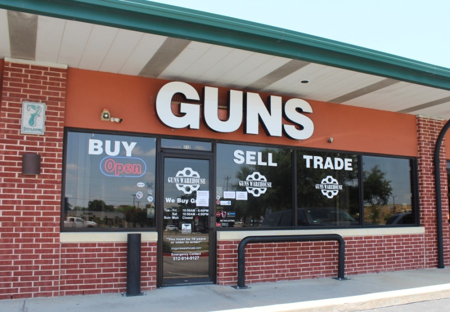 Guns Warehouse is at 601 E. Whitestone Blvd., Ste. 712, in Cedar Park. (Brian Perdue/Community Impact Newspaper)