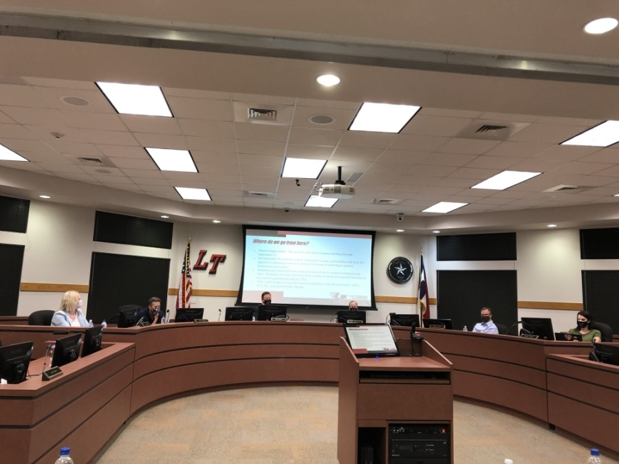 Lake Travis ISD approved the 2020-21 tax rate and budget during an Aug. 19 board meeting. (Amy Rae Dadamo/Community Impact Newspaper)