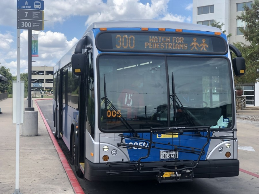 Capital Metro's 300 bus route, which travels along Oltorf Street, Pleasant Valley Road and Springdale Road, has increased its frequency to run every 10 minutes. (Jack Flagler/Community Impact Newspaper)