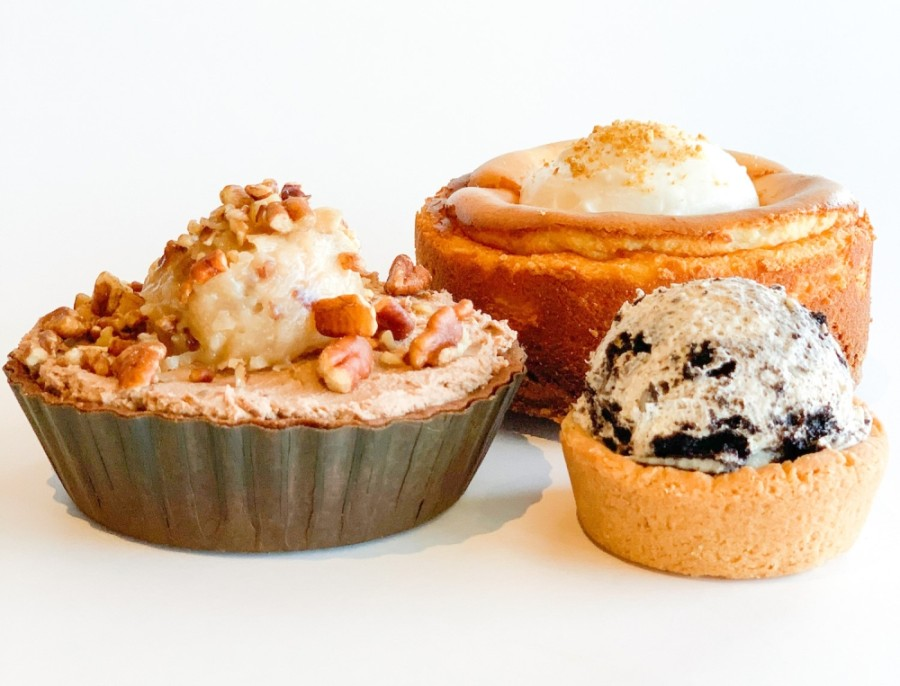 The dessert bar has a menu that includes pies and minipies. (Courtesy Pie Bar)