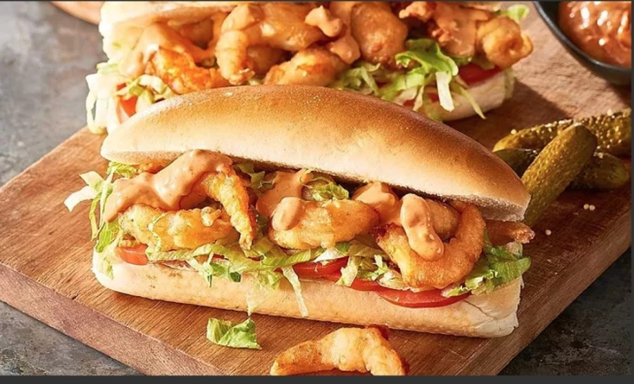 The New Orleans-inspired menu features charbroiled and fried seafood selections, po'boys, hush puppies, Cajun fries and more. (Courtesy Louisiana Crab Shack)